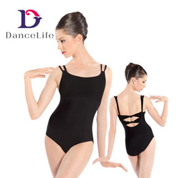 Wholesale Ballet Leotards Women - Free shipping Adult twist back ballet dance leotards with mesh combined front ballet dance wear A2028