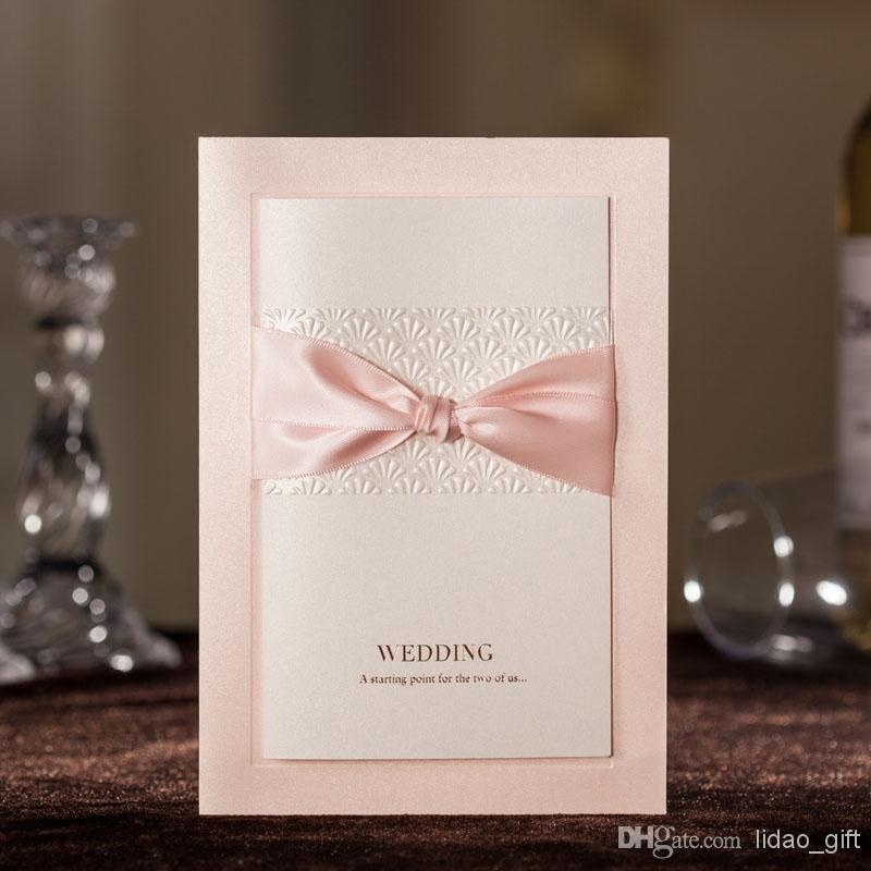 2014 Latest Hot Sale Elegant Cheap Elegant Pink Free Personalized U0026  Customized Printing Embossed Flower Wedding Invitations Cards Pakistani  Wedding ...