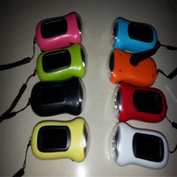 Wholesale Built Flashlight - Waterproof Hand crank or built in Solar powered 3 LED Flashlight, High power 3 functions LED