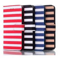 Wholesale Zebra Iphone Wallet Wholesale - For Iphone 6 6G 4.7inch Stripe Zebra skin Marin style Flip PU wallet leather case cover Stand holder credit card slots cases DHL Free