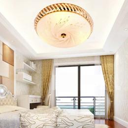 Luci di cristallo luci illuminazione di moda online-K9 Plafoniera in vetro cristallo Modern Warmth Fashion Dining Room Ceiling Lamp