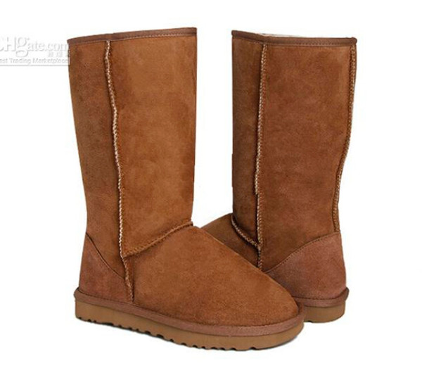 Best Quality Leather Boots Womens Classic Tall Snow Australia Boots 5 Colors Drop Shipping