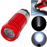 Wholesale Cigarette Flashlight Car - Mini LED Flashlight Rechargable 0.5w 30 LM Car Cigarette Lighter Flashlight Torch aluminium alloy flash light 3 modes