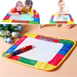 Discount baby alphabet learning - Water Drawing Painting Writing Board Mat Magic Pen Kids Children Toys Xmas Gift