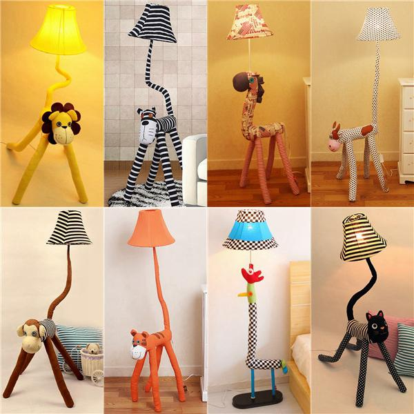 2018 New Animal Floor Lamp Cartoon Cloth Arrive Led Standing Lamps Cute 220v Bedroom From Rightone 18085