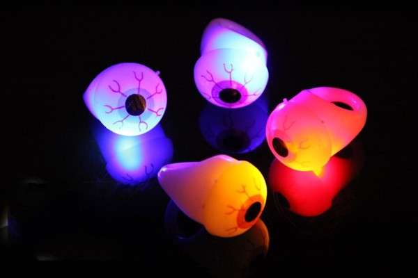 LED Eyeball flashing finger ring Soft Rubber Eye Ring Led flashing Toys Novelty Design Party Decoration Supplies For Adults and Children