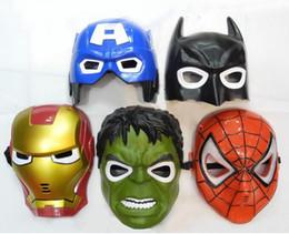 Wholesale Children Party Masks - LED Halloween Cluminous dark mask Iron Man Spider-Man Cartoon mask novelty toy Party birthday theaters children Gift