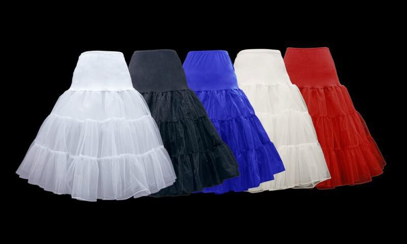 الرجعية تحتية سوينغ خمر التنورة الداخلية يتوهم صافي التنورة روكابيلي توتو 4 الألوان لاختيار شحن مجاني
