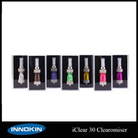 Wholesale Ego T Cigarette Dual - IClear 30 Atomizer Replaceable Dual Coil Clearomizer iClear 30 Tank For EGo T E Cigarette Various Colors