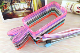 Wholesale Earphones S4 - Colorful Rabbit Earphone Bumper case iphone 6 Plus 5 5S Galaxy Note3 Note4 S5 S4 Transparent Silicon Crystal Bumper case with strap