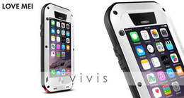 Wholesale Gorilla Cell Phone - 2014 Gorilla Glass Straight case For iPhone 6 4.7'' LOVE MEI Protective Cover Case For iphone6 waterproof Back Cover Cell Phones Shell 1pcs