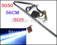 Wholesale Knight Rider Lights Kit - Wholesale-RGB 7-Color 5050 LED 56cm RGB Scanner Strip Lighting Kit with Wireless Remote Control aka LED Knight Rider Light