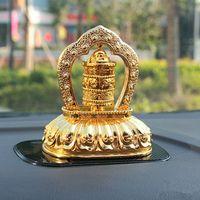 Wholesale Accessories Automotive - Solar car decoration, alloys, gold, pray bless peace, automotive accessories