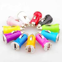 universelle zelle mobile großhandel-Bunte Bullet Mini USB Kfz-Ladegerät Universal-Adapter für iphone 5 4 4S 6 Handy PDA MP3 MP4 Spieler mobile i9500 S3 m7 l36h