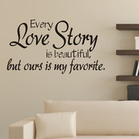 New 60x32CM Love Story Poetry Art Background DIY Wall Sticke...
