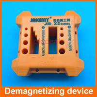 Wholesale Screwdriver Magnetizer - 2 in 1 Magnetizer Demagnetizer Screwdriver for steel screwdriver blades tweezers and hand tools magnetizing device JM-X2