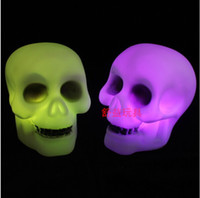 Wholesale terrorist toys resale online - Colorful Changed Skull Pumpkin Lamp Night Light Kids LED Terrorist Toys Lighting For Halloween Decoration New Arrival