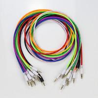 teje la extensión al por mayor-3.5 mm de audio AUX Cable de extensión de coche trenzado cable tejido auxiliar estéreo Jack macho 1 m 3 pies de plomo para teléfono celular 5 5c 5s CellPhone Speaker