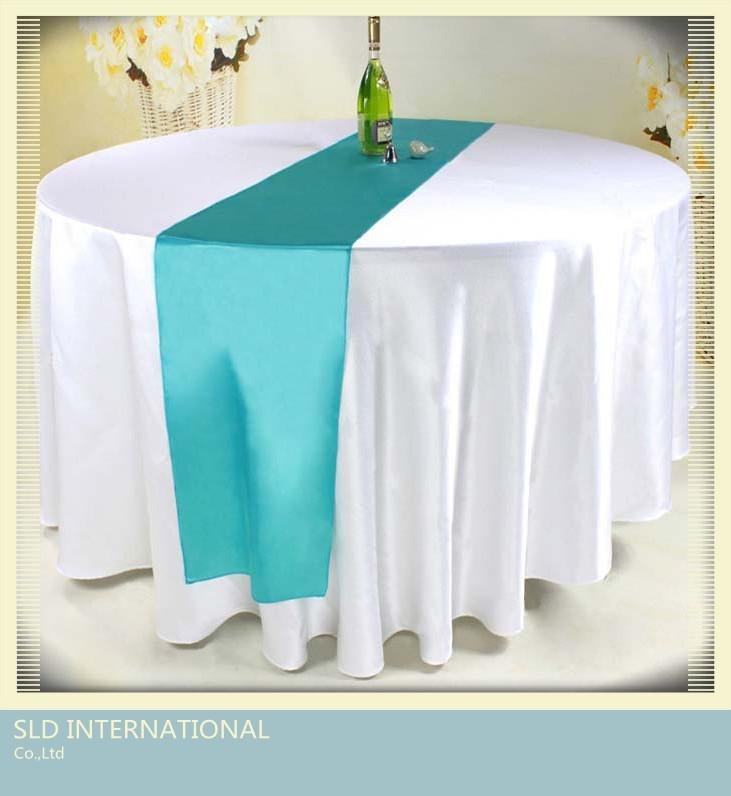 50 Tiffany Blue Wedding Stain Table Runner For Weddings 12 X 115 Napkin Printing Embroidered Napkins From Humorous 21784