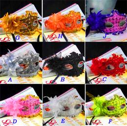 Wholesale Lily Flower For Masks - Exquisite Lace Rhinestone Leather Mask Masquerade Lily Flower Princess Mask For Lady Purple Red Black Gold Pink Silver White More Colors