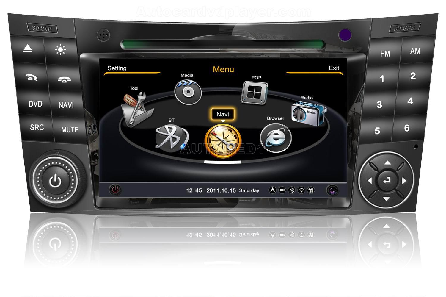Oem for mercedes benz e class clk cls w211 w219 w209 w463 car dvd player with gps navigationfree map radioam fm stereo system bluetooth portable dvd