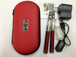 Canada Ego t double kit de démarrage cigarette électronique CE4 atomiseur clearomizer 650 mah 900 mah 1100 mah 1300 mah batterie ego t ma batterie e cigarette DHL Offre