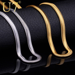 """Wholesale 55 Mm - Necklaces With """"18K"""" Stamp Fashion Men Jewelry Wholesale Free Shipping 18K Real Gold Plated 5 MM 55 CM Snake Chain Necklace N336"""