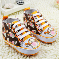 Wholesale Tigers Shoes Wholesale - Cartoon Baby First Walker Shoes The Tiger Picture Toddler Foot Wear Infant Shoes 11-12-13 6pair lot WD203