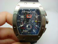 смотреть мужчин оптовых-Горячие продажи Мужские спортивные часы топ продать высокое качество роскошные часы механические автоматические наручные часы черный резиновый ремешок 024