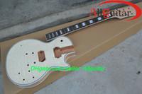 explosión de caoba al por mayor-Custom Shop Unfinished Guitarra de caoba Trastes cuerpo vinculante Burst Top China Guitar Body