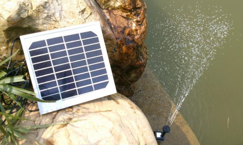 Pompe à eau solaire / fontaine solaire / pompe à eau / petite fontaine pour aquarium / jets d'eau solaires, fontaines de jardin avec piscine et rocaille \ Fontaine de jardin