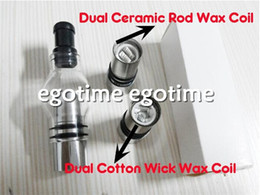 Wholesale Ego T Tank Head - New Wax Dual Coil Atomizer Glass Globe Tank Clearomizer CAX CA Atomizer head for eGo e-cig T VV vision 2 EVOD battery Electronic Cigarette