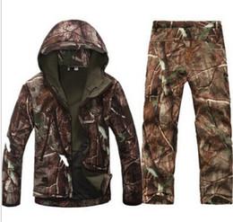 Wholesale Army Combat Uniform - Tactical winter TAD Gear V 4.0 combat uniform Hoodie Soft Shell SharkSkin Waterproof Fleece Coat Jacket Pants Hoody Clothing
