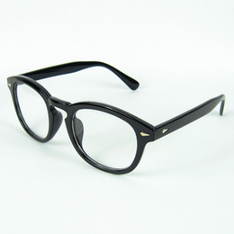 Wholesale New Arrival Optical Frame Johnny Depp Eyeglasses Frame Round Frame Rivet No Brand Colors
