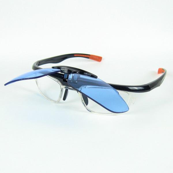 Flip Up Mens Occhiali da sole sportivi Lenti trasparenti all'interno del ciclismo Occhiali da sole Design della moda per uomini e donne 3 colori