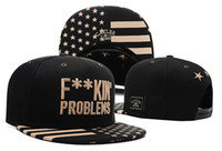 Wholesale Hot Problems - CAYLER & SONS Snapback Cap Problems GLDN - black-gold FASHION KILLA ROCKY s famous song the lettering F**KIN PROBLEMS, Hot Selling Caps