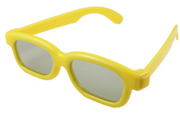 Wholesale Real D 3d Glasses - Wholesale-10pcs lot [kids size] Hot TAC len Circular Polarized Children 3D Glasses for Real D & Master Image 3D 4D TV Free Shipping