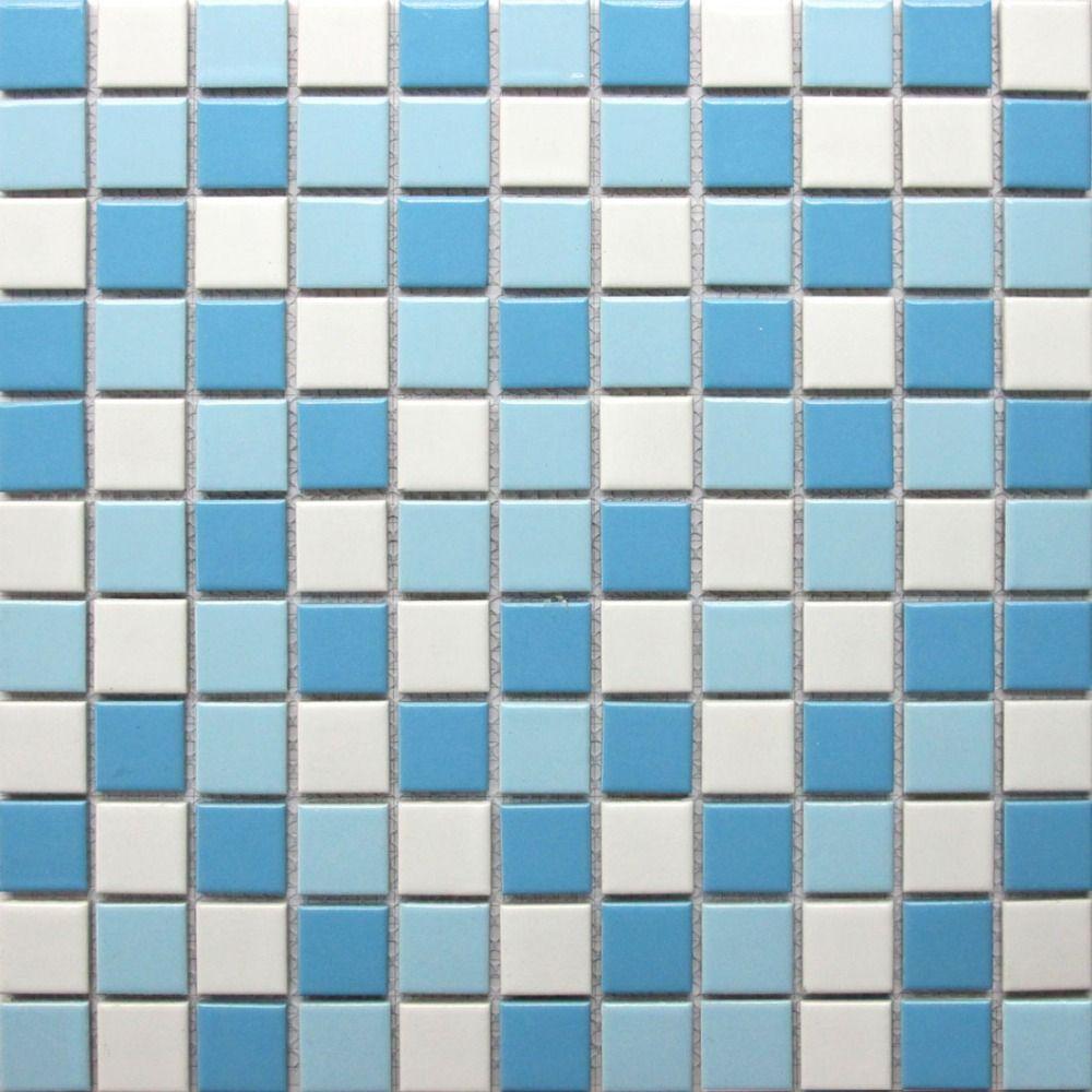2018 Swimming Pool Tiles Ceramic Mosaics White Blue Backsplash ...