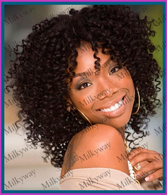 Milkyway Free Shipping1b Afro 100 Human Hair Kinky Curly Front