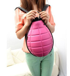 Wholesale Grenade Backpacks - Christmas Backpack 2013 New Arrival 5colors PU Grenade Style 1PC Lot Free Shipping 1108B