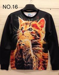 $enCountryForm.capitalKeyWord Canada - 2014 new Winter print Pullovers mens hoodies Sweaters 3D Sweatshirt women's Sweatshirts men's T Shirt 100 design Handshake cat