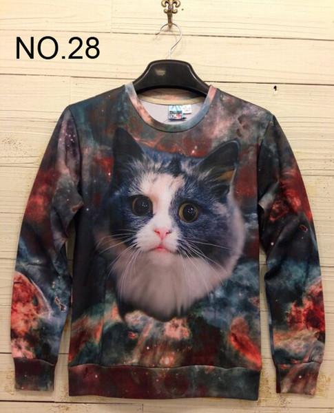 2014 nuova stampa invernale Pullover da uomo Felpe Felpa 3D Felpe da donna Felpe da uomo T Shirt 100 design Star Cat