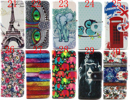 Wholesale Wholesale Aztec Iphone Cases - 4.7inch Sexy Marilyn Monroe Owl Flower Aztec Paris Towl PU Leather Cover Magnets Flip Stand Wallet Case For iPhone 6