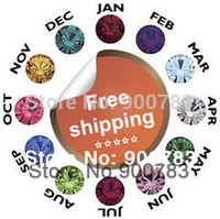 Wholesale- Free shipping Mixed 120PCS 100% Crystal Birthstone...
