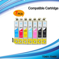 Wholesale Epson Photo Ink Cartridge - 7 PCS T0481-T0486 compatible ink cartridges for Stylus Photo R200 R220 R300 R300M R320 R340 RX500 RX600 RX620 RX640