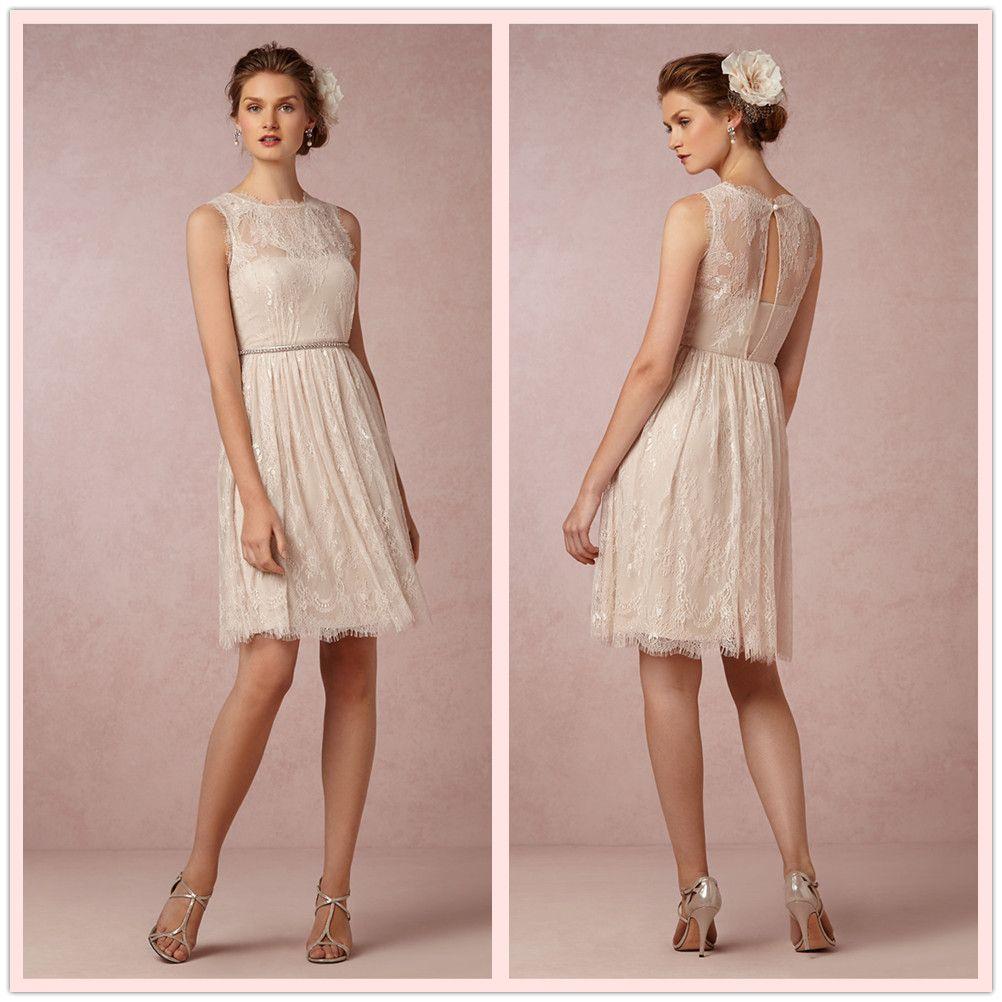 Navy Chiffon Junior Bridesmaid Dresses 2015 Sheer Neck