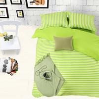 ingrosso regina mela verde-Home Textile, Green apple Set di biancheria da letto stile frangia, King Queen Full size Copripiumino Lenzuolo Federa, spedizione gratuita