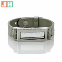 ingrosso cuoio braccialetto di fascino fluttuante-Braccialetto galleggiante in acciaio inossidabile con cinturino galleggiante nuovo in vera pelle