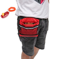 Wholesale Pet Pouch Carrier - Deluxe Dog Training Treat Bait Bag Pouch With Belt And Reflective Striped Pet Treat Pouch Food Storage Carrier + Free Training clicker