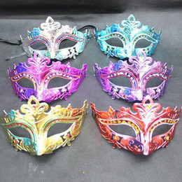 Wholesale Mask Designs For Girls - Fashion design masquerade masks party mask Fairy Princess masks girl flower colorful mask Half Face Mask for adults & children HM23